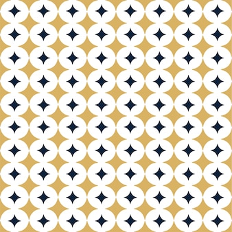 Ornamental vector seamless pattern with star.