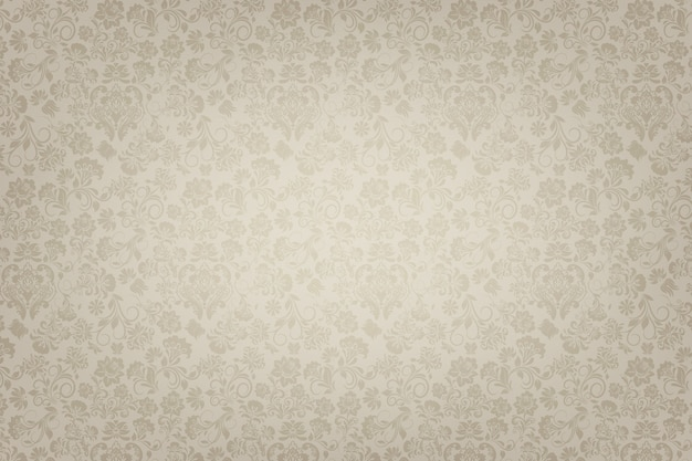 Ornamental vintage floral background