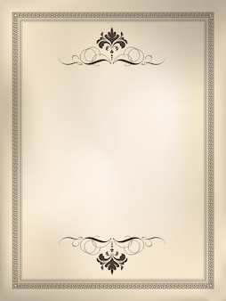 Ornamental vintage frame background