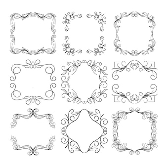 Ornamental vintage frame set