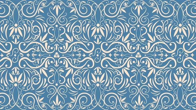 Ornamental vintage wallpaper concept