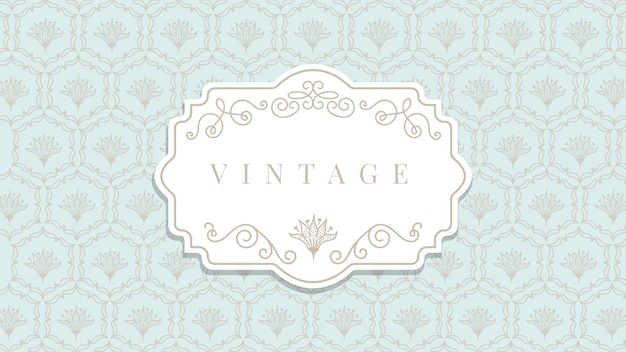 Ornamental vintage wallpaper