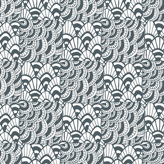 Ornamental waves zentangle pattern. creative textile swatch or packaging design