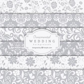 Ornamental wedding backgrounds