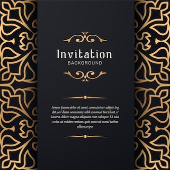 Ornamental wedding invitation with elegant style