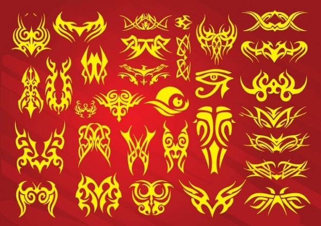 Ornamental wings for tattoos