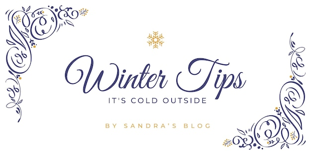 Ornamental winter blog header template