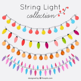 Ornamental wreaths set of decorative lights