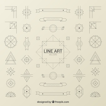 Ornaments in art deco style pack