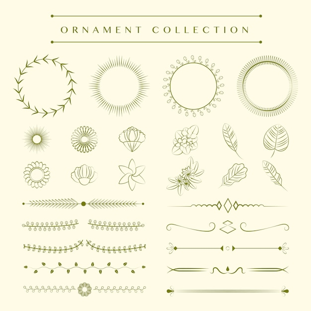 Ornaments collection design concept