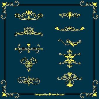 빈티지 스타일의 장식품 컬렉션