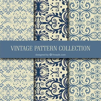 Ornaments patterns collection in vintage style Free Vector