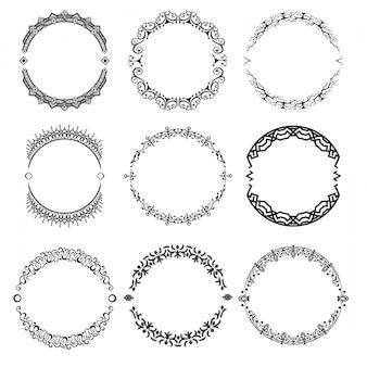 Набор абстрактных декоративных ornamets векторных иллюстраций
