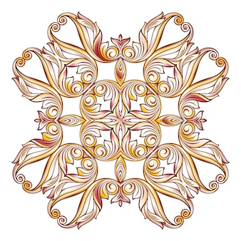 Ornate floral pattern on white