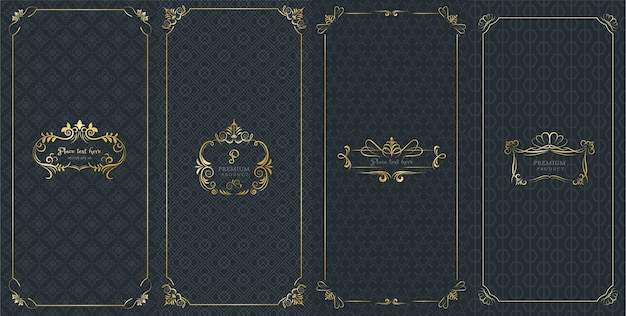 Ornate frames and luxury logos for packaging