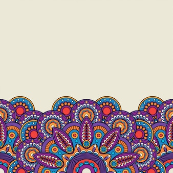 Ornate indian hand drawn border