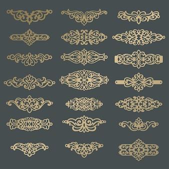 Ornate laser cut leather bracelet, necklace template.