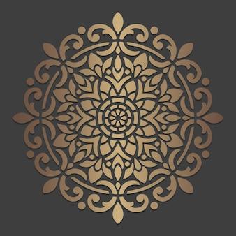 華やかなマンダラデザイン。装飾的なサークルパターン。