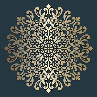 Изысканный дизайн мандалы. орнаментальный образец круга.