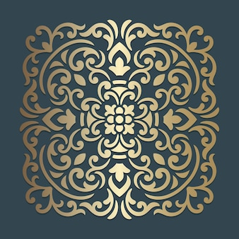 Ornate mandala design. ornamental square pattern.