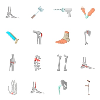 Orthopedic and spine icons set