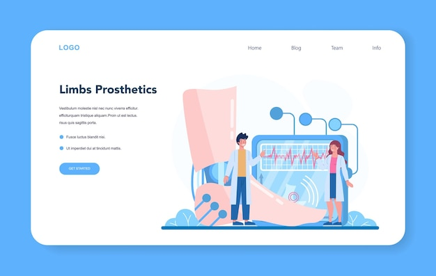 Веб-баннер врача-ортопеда или целевая страница