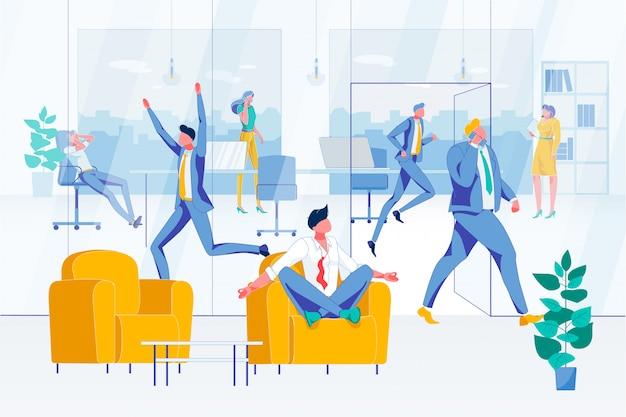 男性労働者は職場の混osとラッシュで穏やかに保つ