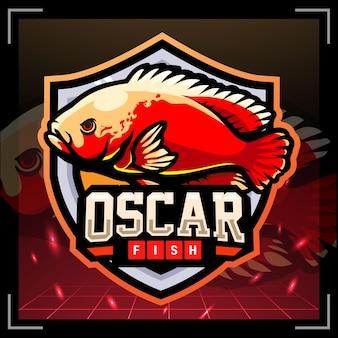 오스카 물고기 마스코트 esport 로고 디자인