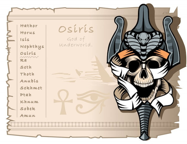 Osiris, the god of the underworld