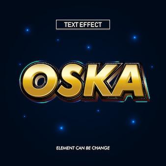 Oska gold text effect