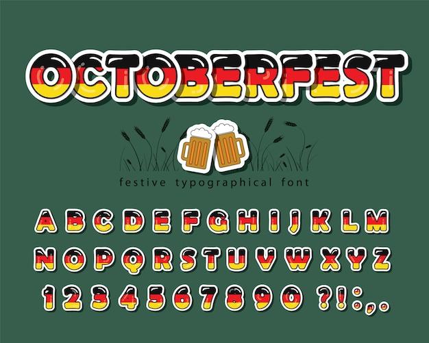 Ostoberfest cartoon font.