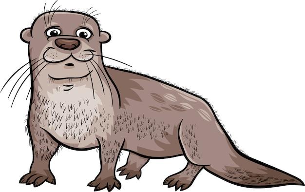 수달 동물 만화 일러스트 레이션