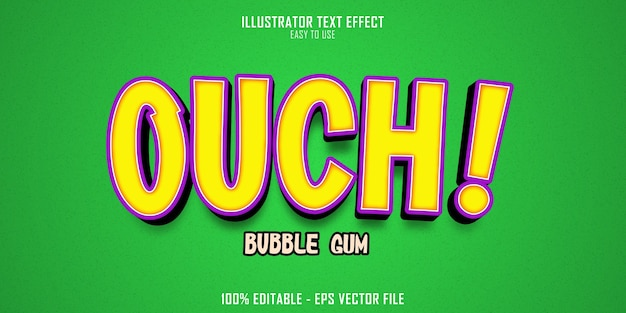 Ouch bubble gum 텍스트 스타일 효과