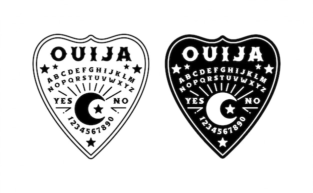 Набор ouija board иллюстрации