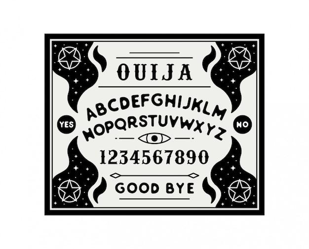 Ouija board иллюстрация
