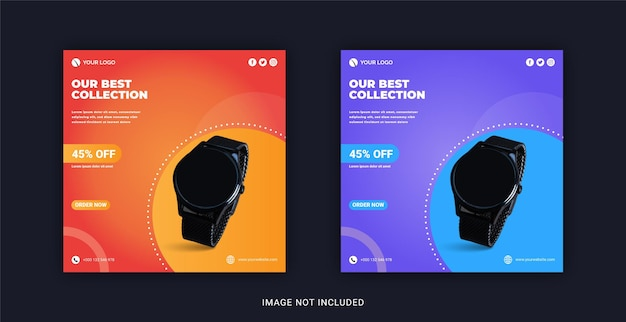 Our best watch collection social media post instagram banner template