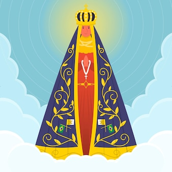 Our lady of aparecida in the sky