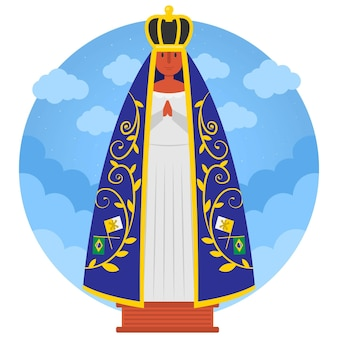 Our lady of aparecida with crown
