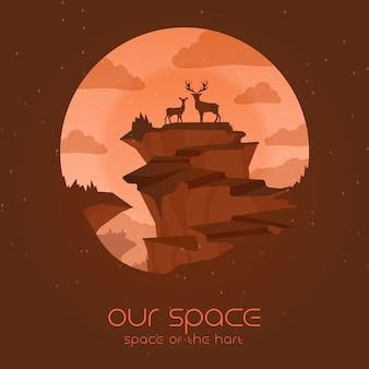 Our space of the hart with animals