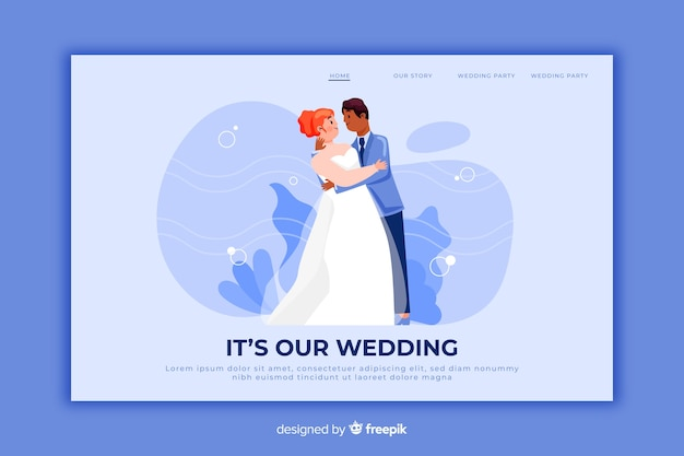 Our wedding landing page template