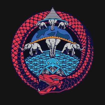 Ouroborous t-shirt design
