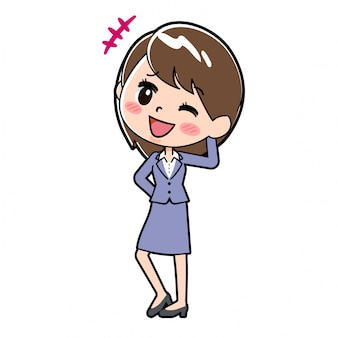 Out line business woman