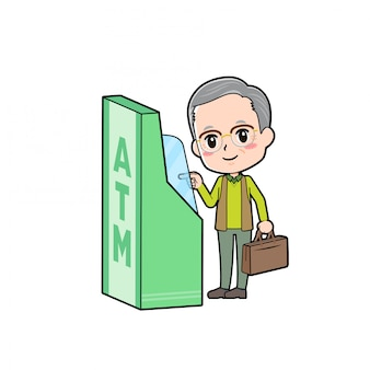 Out line green wear grandpa atm-touch