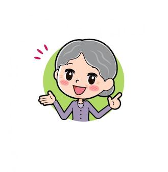 Out line фиолетовый носить значок бабушки связь