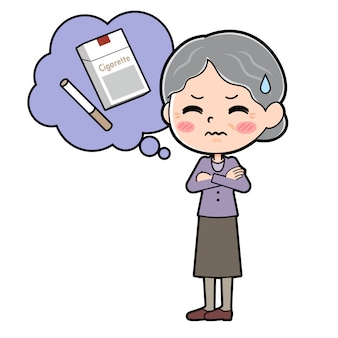 Out line purple wear grandma