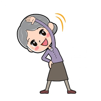 Out line фиолетовая одежда бабушка боковой изгиб