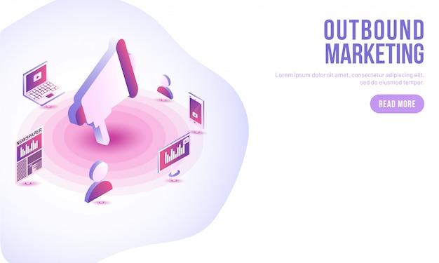 Outbound marketing concept.