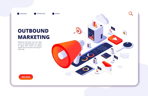 Outbound marketing landing page