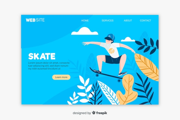 Outdoor activities anding page template