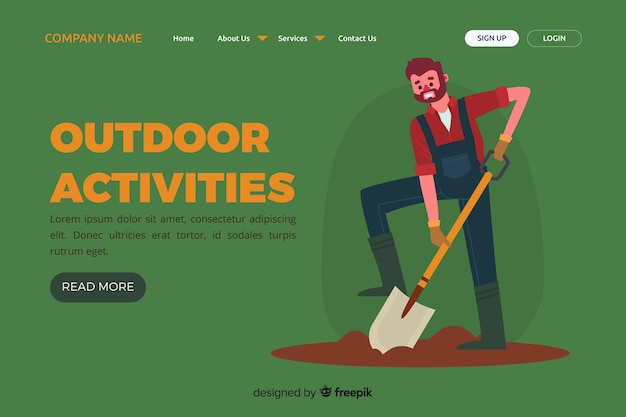 야외 활동 방문 페이지 템플릿